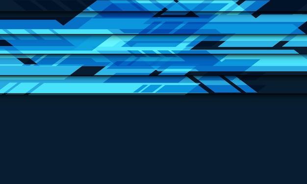 Абстрактный синий цепи кибер с пустым пространством геометрические футуристические технологии векторный фон