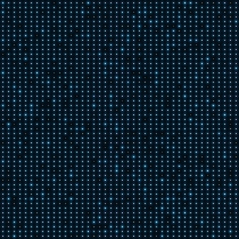 Abstract blue color neon dots dotted background.