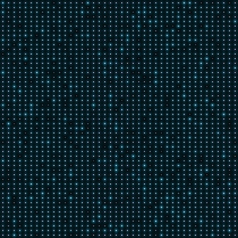 Abstract blue color neon dots, dotted technology background.