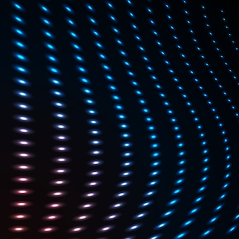 Abstract blue color neon dots