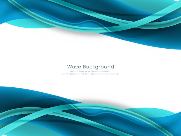 Abstract blue color wave background