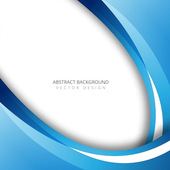 Abstract blue colorful wave background illustration