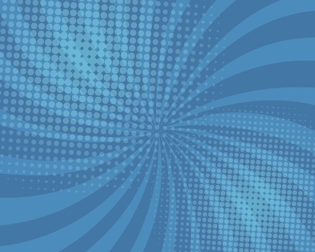 Abstract blue comic background