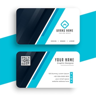 Abstract blue corporate business card template design