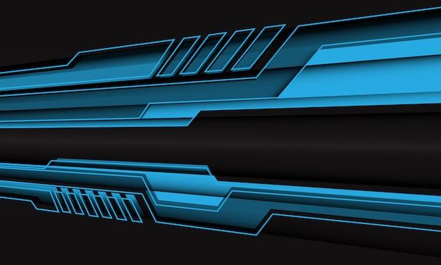 Абстрактная синяя кибер линия многоугольник зум на черный дизайн современной футуристической технологии.