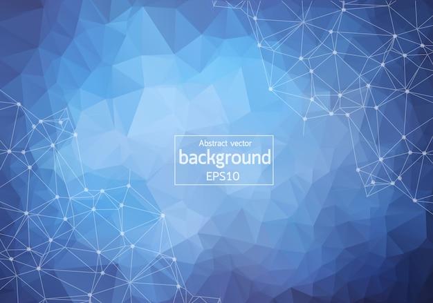 Abstract  blue dark geometric polygonal background