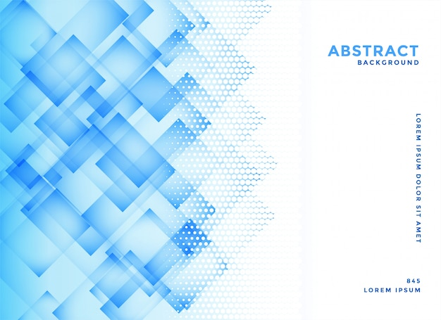 Abstract blue diagonal squares background vector