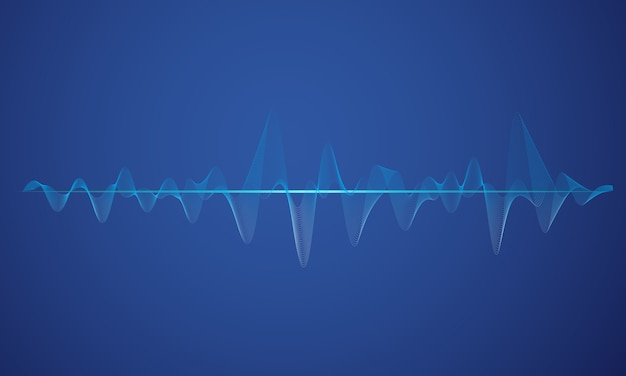 Abstract blue digital equalizer background