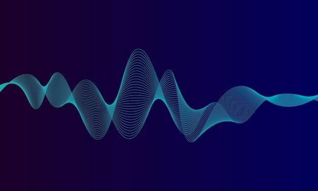 사운드 웨이브 패턴 요소의 추상 블루 디지털 이퀄라이저