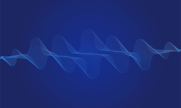 Abstract blue digital equalizer, of sound wave pattern element