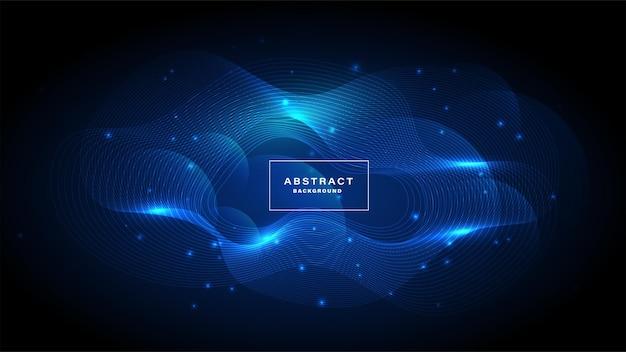 Синий абстрактный фон цифровых технологий