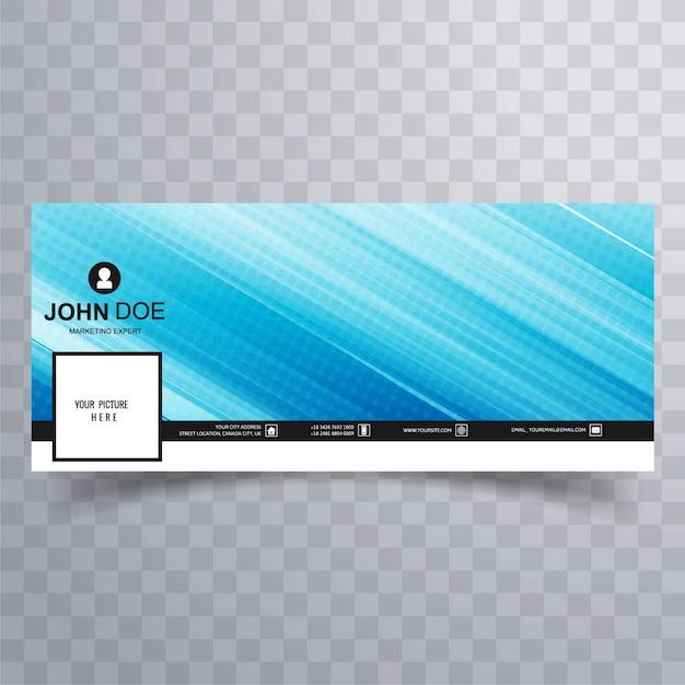 Abstract blue facebook banner for timeline