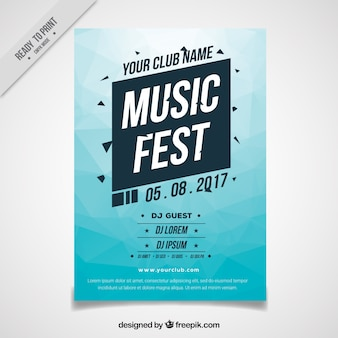 Abstract blue festival brochure