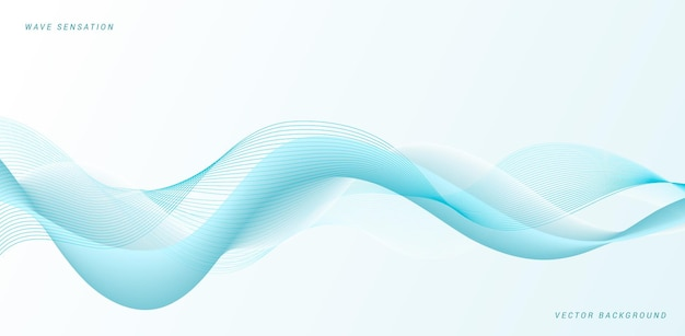 Abstract blue flowing waves  design