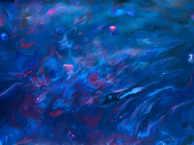 Абстрактный синий жидкий творческий шаблон, карты, набор цветных крышек. геометрический дизайн, жидкости, формы с блеском золотой фольги. модное абстрактное искусство. векторная иллюстрация