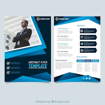 Abstract blue flyer template