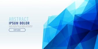 Абстрактный синий геометрический дизайн баннера