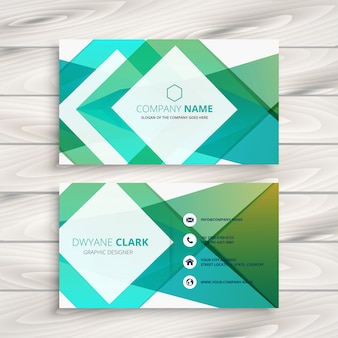 Abstract blue geometric business card