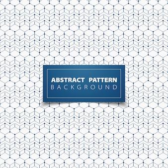 Abstract blue geometric hexagon pattern