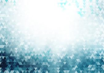 抽象的なブルーの幾何学的な流行に敏感な三角形のパターン