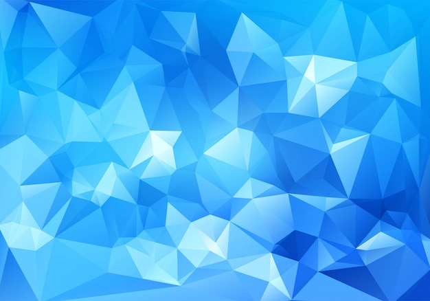 Abstract blue geometric polygonal background