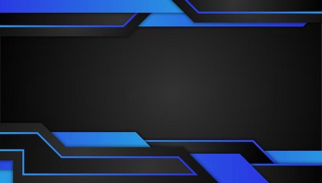 스포츠 어두운 배경에 추상 블루 기하학적 모양