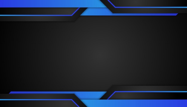 Abstract blue geometric shape on sport dark background