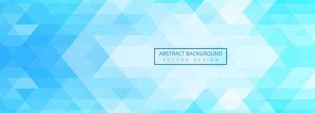 Abstract blue geometric shapes banner background