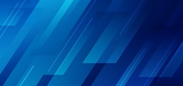 라인 기술 배경으로 기하학적 추상 블루