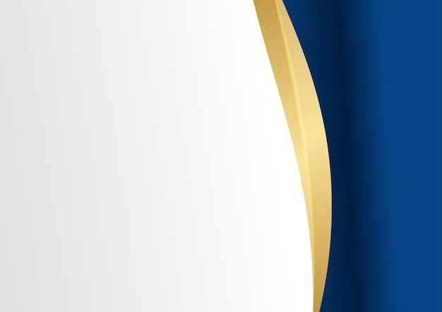 Abstract blue and gold background. luxury navy blue background combine with glowing golden lines elements. overlap layer textured background design for banner, poster, presentation design, flier