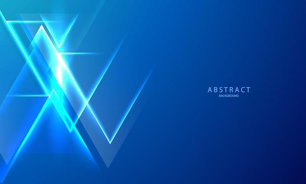 抽象的なブルーグラデーション背景エコロジーコンセプト、グラフィックデザイン、光の効果の輝く。ネオンの輝きとフラッシュの背景。