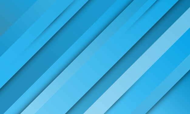Abstract blue gradient stripes with shadow background. vector illustration.