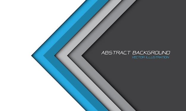 抽象的な青灰色矢印白空白スペースデザイン現代の未来的な背景ベクトルイラスト。
