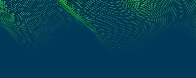 Abstract blue green pattern point background with dynamic triangle. technology particle mist network cyber security.