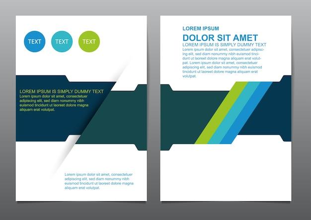 Абстрактные синие зеленые шаблоны обложки для презентаций