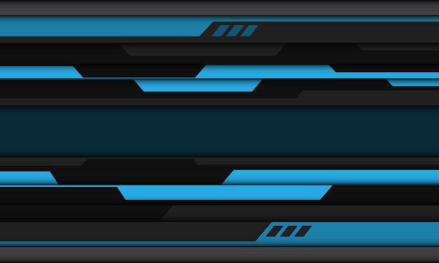 抽象的な青灰色黒サイバー幾何学的デザイン現代の未来的な背景