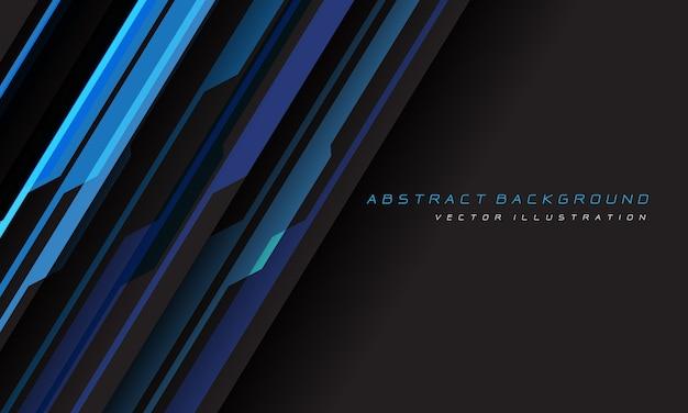 空白スペース現代の未来的な背景を持つ抽象的な青灰色のサイバー幾何学的な線。