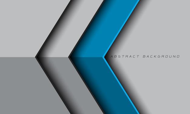 空白のスペースデザインモダンで豪華な未来的な抽象的なブルーグレーメタリック矢印方向