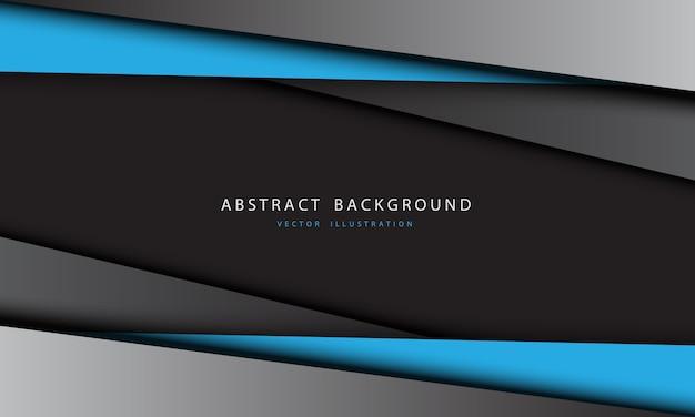 抽象的な青灰色の金属の三角形のデザインのモダンで未来的な背景。
