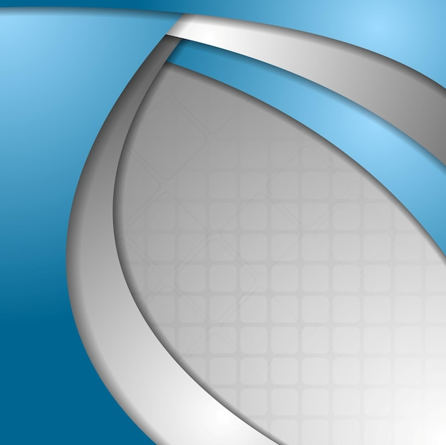 Abstract blue grey wavy corporate background. vector design
