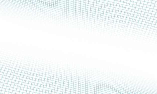 Abstract blue grid lines perspective on white background. design for your presentation.
