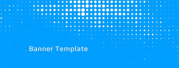 Abstract blue halftone background template