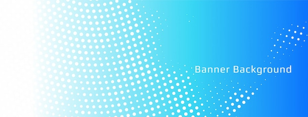 Abstract blue halftone banner template