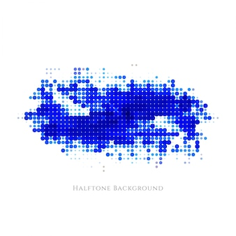 Abstract blue halftone design background
