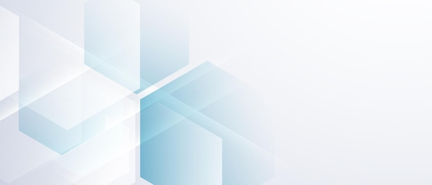 Абстрактный синий шестиугольник фон плакат с динамической. технологическая сеть векторные иллюстрации.