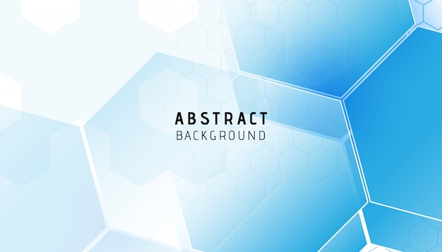 Abstract blue hexagon modern background