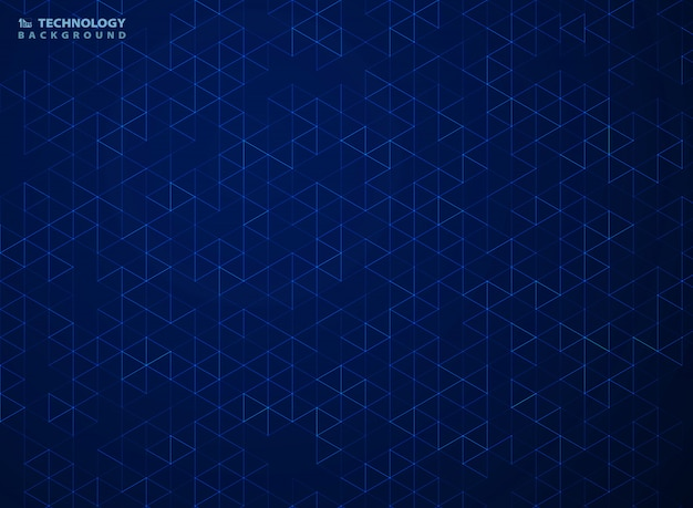 Abstract blue hexagon pattern of technology geometric background