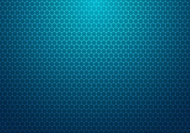 ドットパターン技術の背景を持つ抽象的な青い六角形