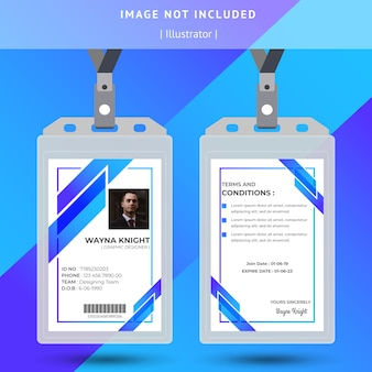 Abstract blue id card design