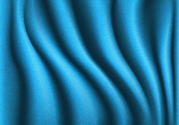 Abstract blue jeans fabric wave background